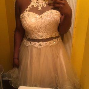 Tan formal dress